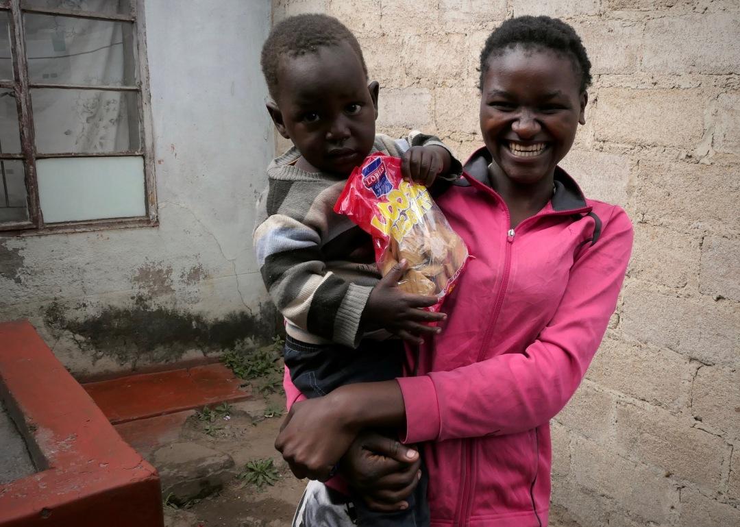 Portrait of Nyarayi and her child